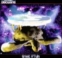 А'Туин, Великата костенурка, понесла Света на диска